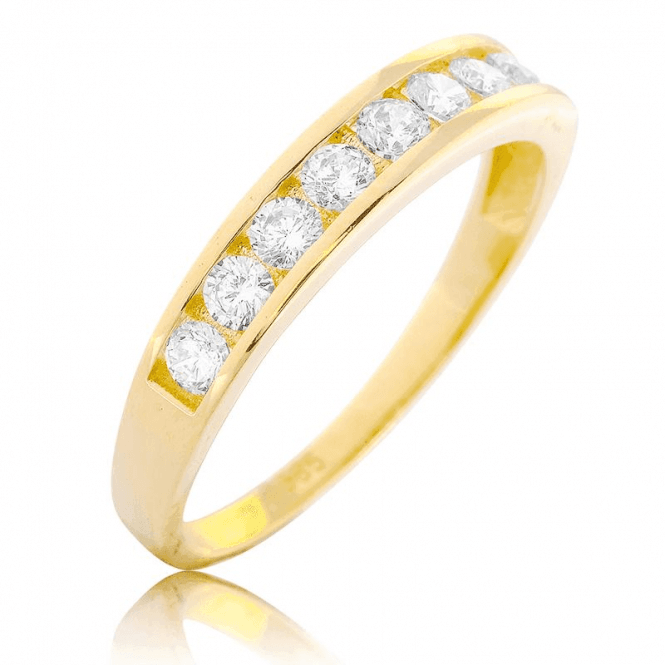 Channel Set 9ct Gold Ring with our Secret Sparkle