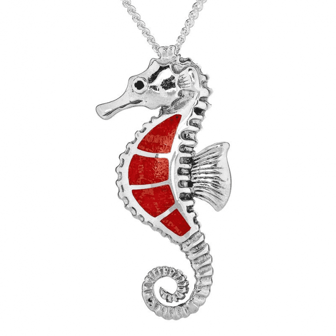 Silver Seahorse Pendant - Serene Magic for Only £35