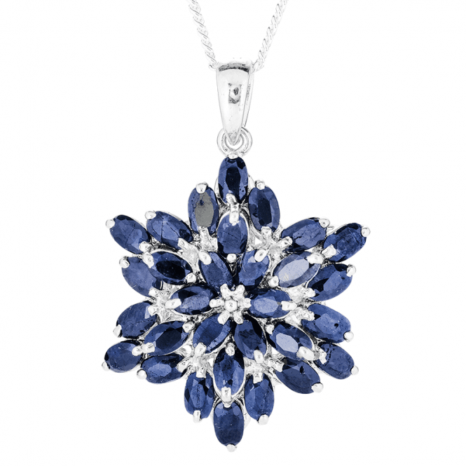 Radiant Pendant with 8cts of Blue Sapphire