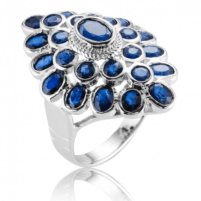 Sea Turtle Ring with 4cts of Ocean Blue Sapphire