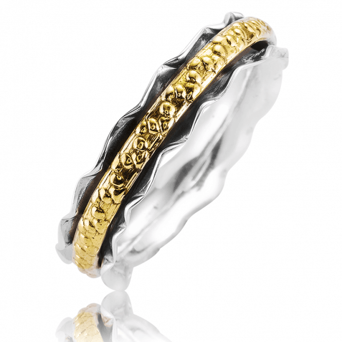 Ruffled Spinner Ring for Unruffled Moments of Calm