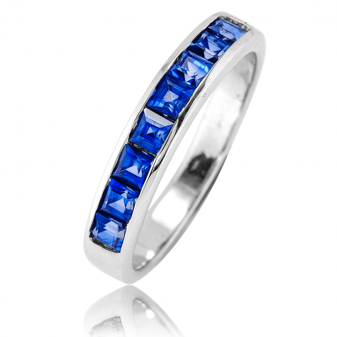 Half Eternity Ring with 2cts of Exciting Square Cut Sapphires