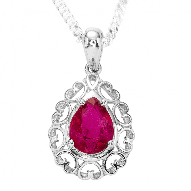 Be Enraptured by a 1¼ct Ruby Embraced by Silver Hearts