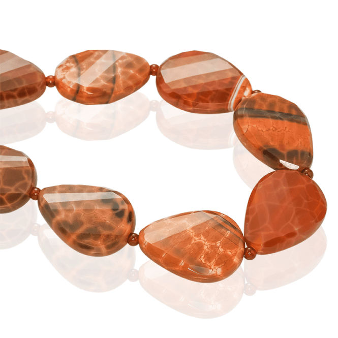 375cts of Naturally Patterned Fire Agate & Cornelian