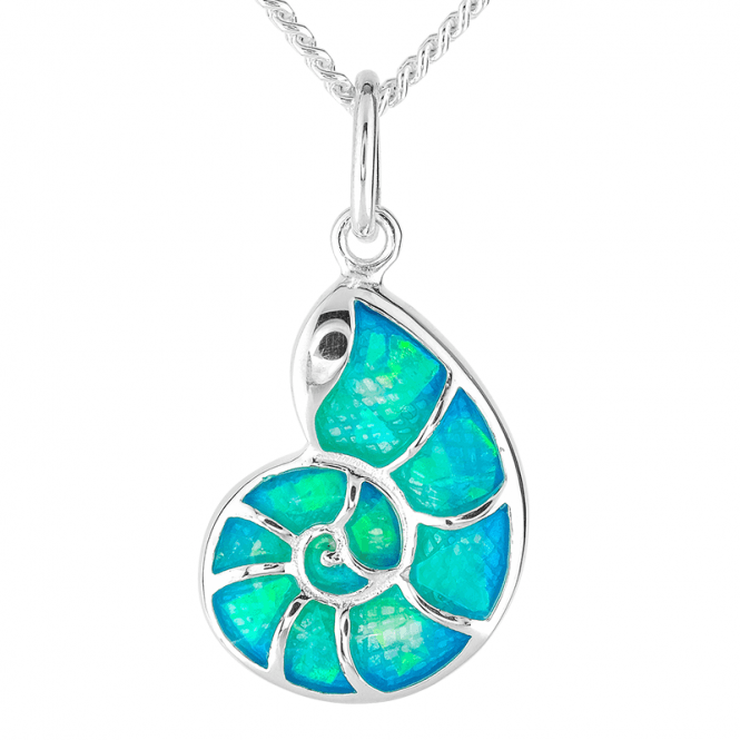 Nautilus Pendant with the Sea-Gleam of Ammonite