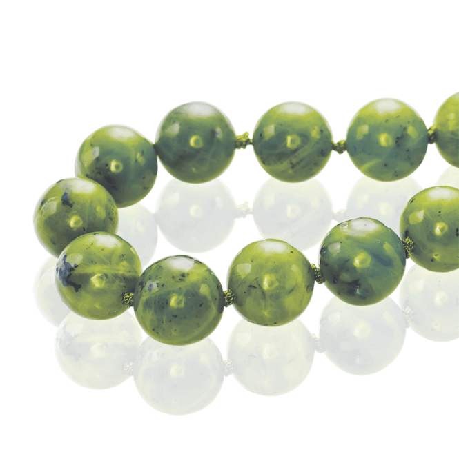 Extra Long Necklet with 550cts of Quietly Elegant Nephrite Jade