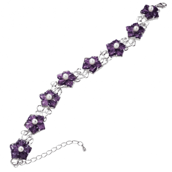Amethyst & Pearl Bracelet