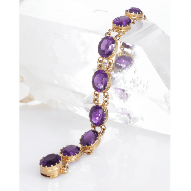 Shipton and Co Ladies Shipton and Co Exclusive 9ct Yellow Gold and Amethyst Bracelet AY0001AM