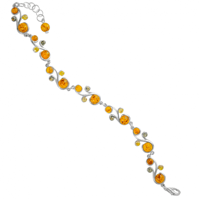 Ladies Shipton and Co Silver and Amber Bracelet TFE239AB