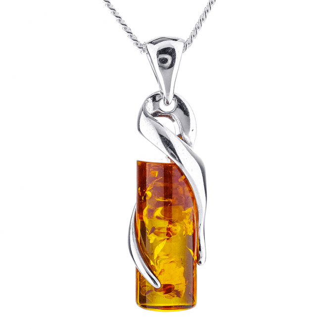 6½ct Barrel of Baltic Amber Secured in Silver