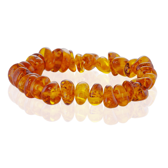 Glowing Amber Flecked by Time