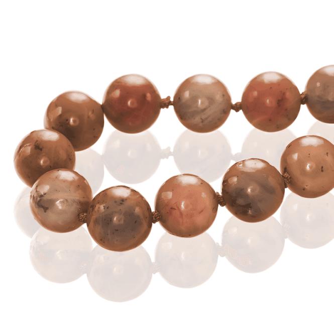 500ct Globe Beads of Cinnamon Jade