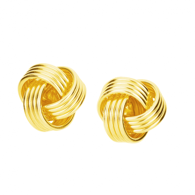Gold Plated Lovers Knot Earrings