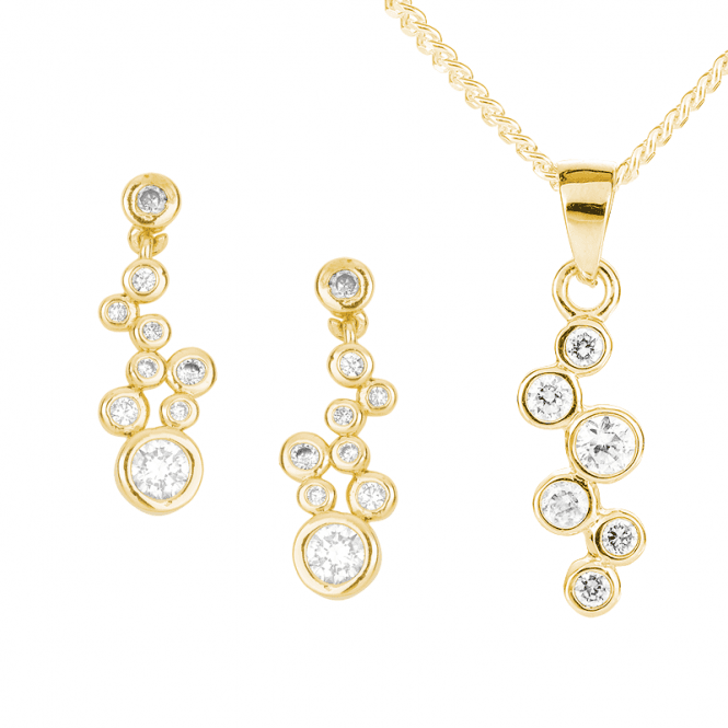 Champagne Bubble Earrings & Pendant Set  Only £60