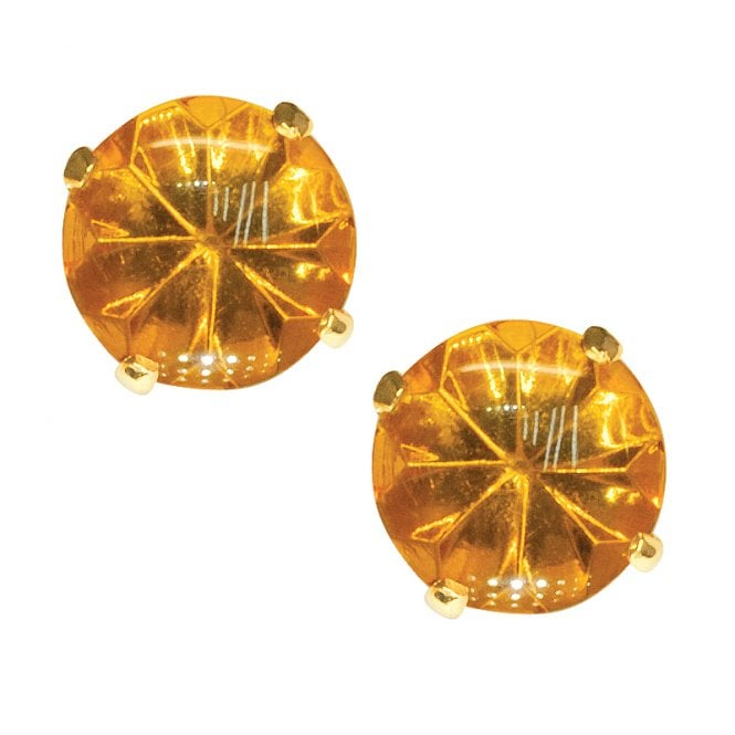 Ladies Shipton and Co 9ct Yellow Gold and Amber Earrings EY2265AB1