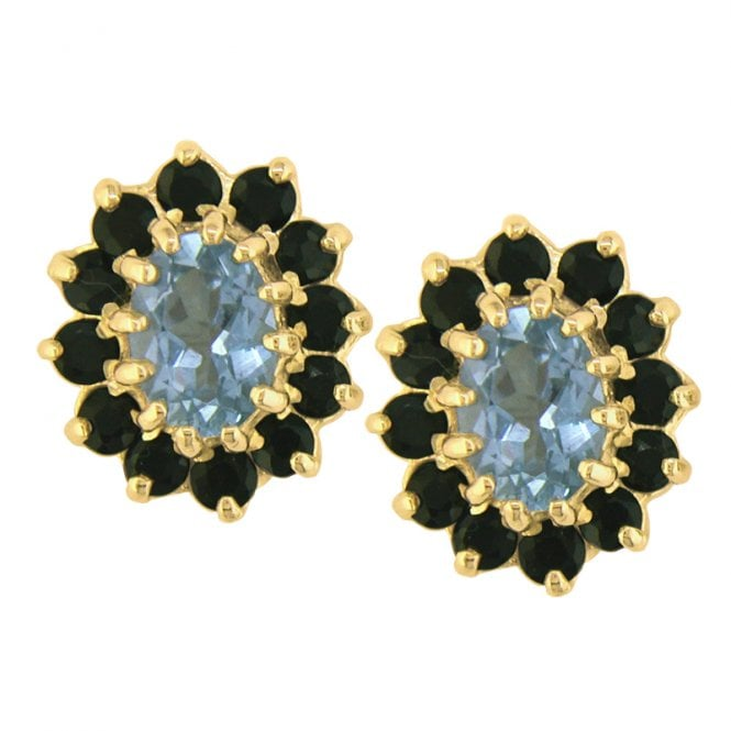 Ladies Shipton and Co Exclusive 9ct Yellow Gold and Aquamarine Earrings EY1270AQS