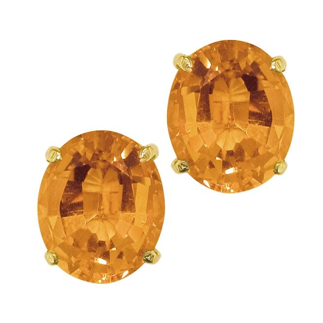 Ladies Shipton and Co 9ct Yellow Gold and Citrine Earrings EY1085CI