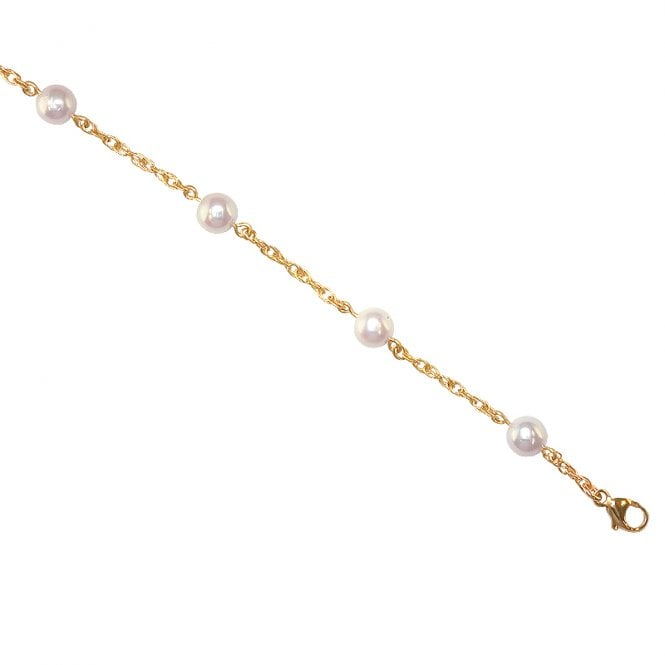 Ladies Shipton and Co Exclusive 9ct Yellow Gold and Cultured Pearls Bracelet AY1672CP