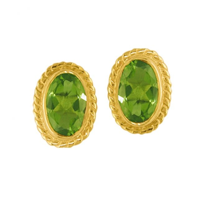 Ladies Shipton and Co Exclusive 9ct Yellow Gold and Peridot Earrings EY0980PE