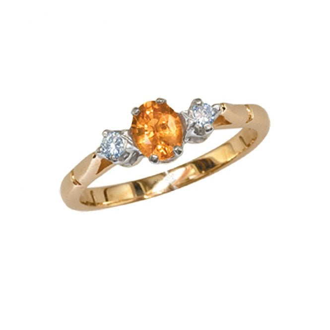 Ladies Shipton and Co Exclusive 9ct Yellow Gold Diamond and Yellow Sapphire Ring RYX071YS