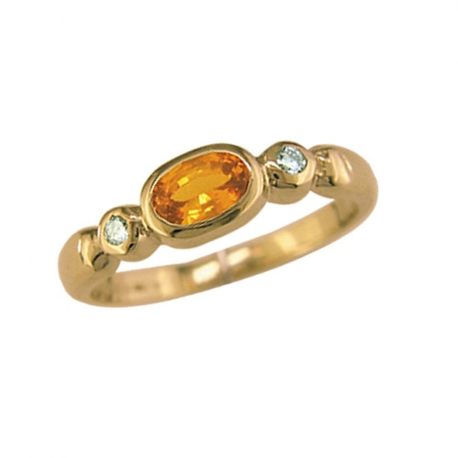 Ladies Shipton and Co Exclusive 9ct Yellow Gold Diamond and Yellow Sapphire Ring RYX080YS