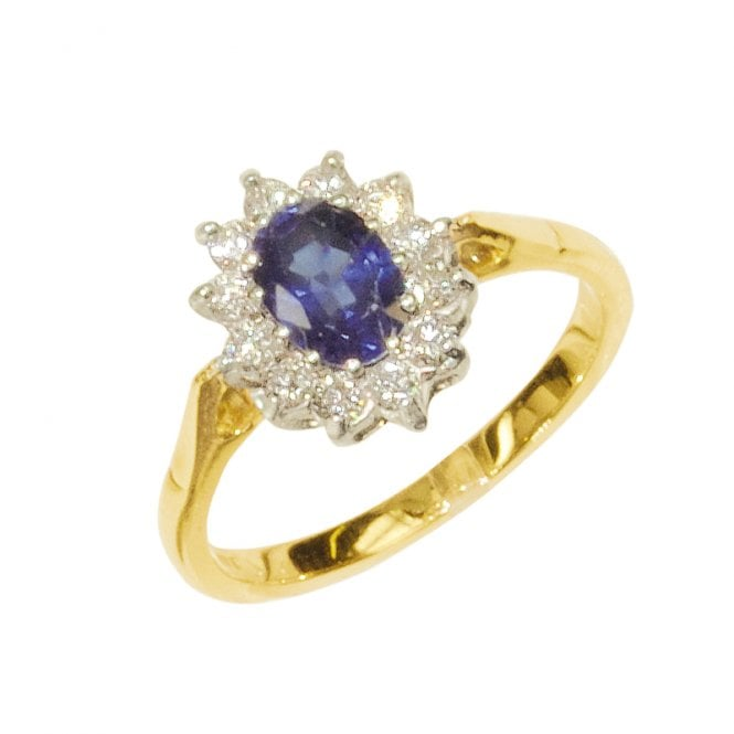 Ladies Shipton and Co Exclusive 18ct Yellow Gold and Blue Sapphire Ring RZ1298BS