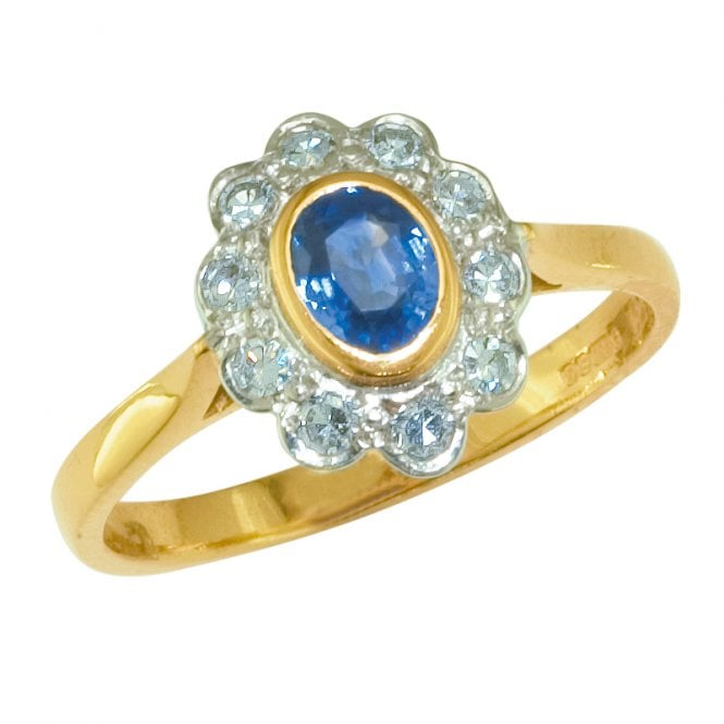 Ladies Shipton and Co Exclusive 18ct Yellow Gold and Ceylon Sapphire Ring RZ1867CS