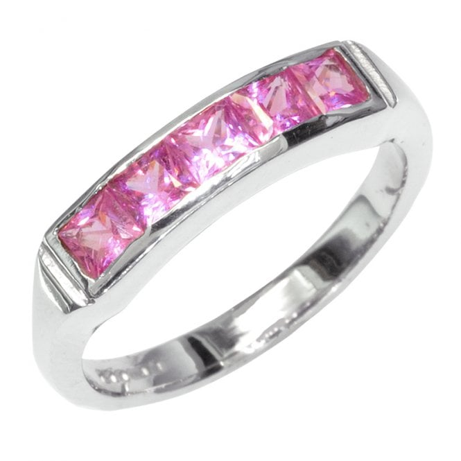 Ladies Shipton and Co Exclusive 9ct White Gold and Pink Sapphire Ring RW1375PS