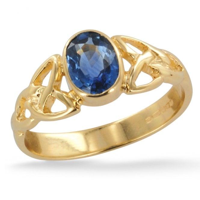 Ladies Shipton and Co Exclusive 9ct Yellow Gold and Blue Sapphire Ring RY1769BS2