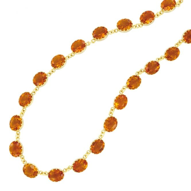 Ladies Shipton and Co Exclusive 9ct Yellow Gold and Citrine Necklace NY0101CI