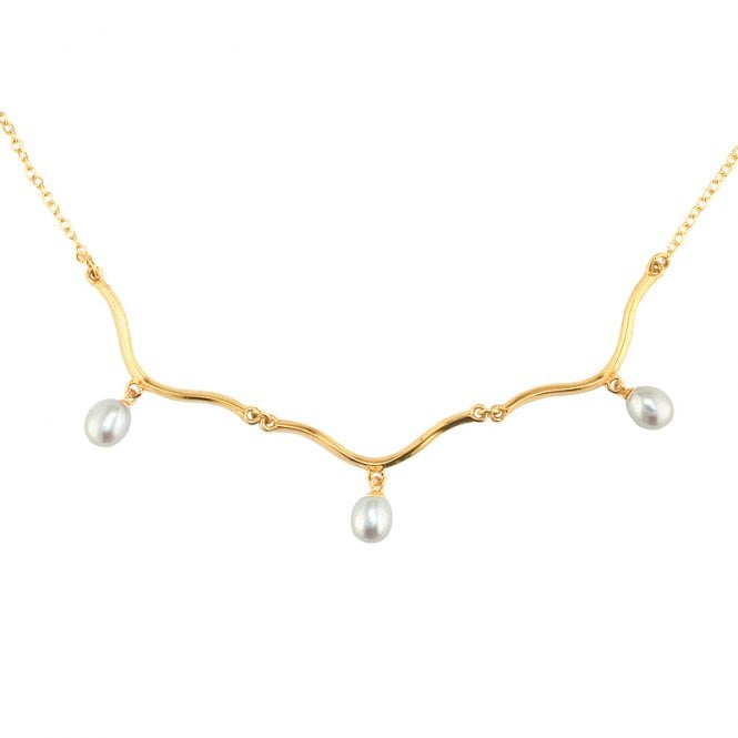 Ladies Shipton and Co Exclusive 9ct Yellow Gold and Freshwater Pearls Necklace NY1784FP