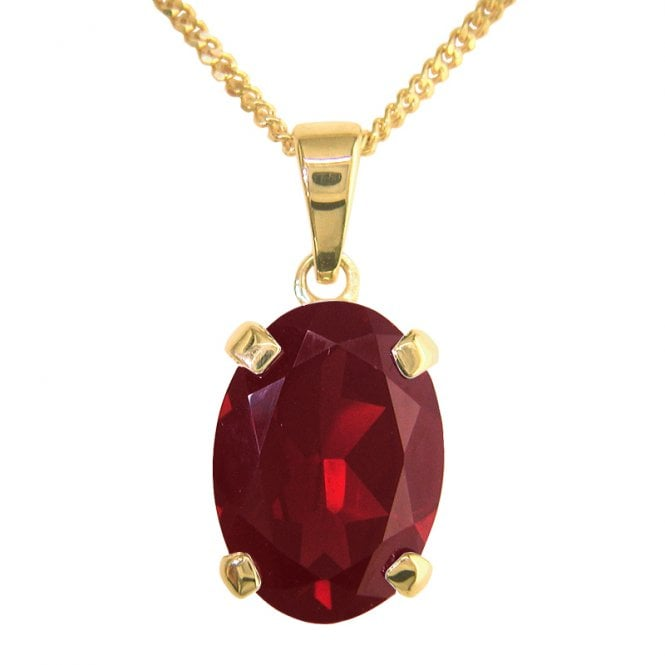 Ladies Shipton and Co 9ct Yellow Gold and Garnet Pendant including a 16 9ct Chain PY2141GR