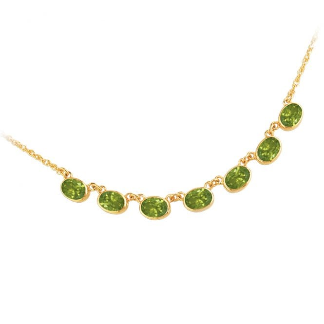 Ladies Shipton and Co Exclusive 9ct Yellow Gold and Peridot Necklace NY1654PE