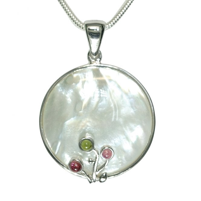 Ladies Shipton and Co Exclusive Silver and Multiple Stone Pendant including a 16 Silver Flexisnake Chain TTL101MU