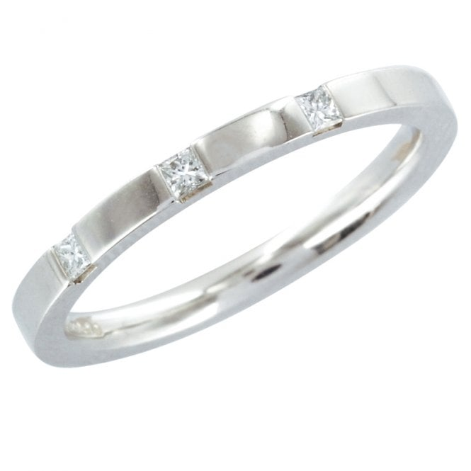 Ladies Shipton and Co 18ct White Gold and 9t Diamond Wedding Ring TST037DI