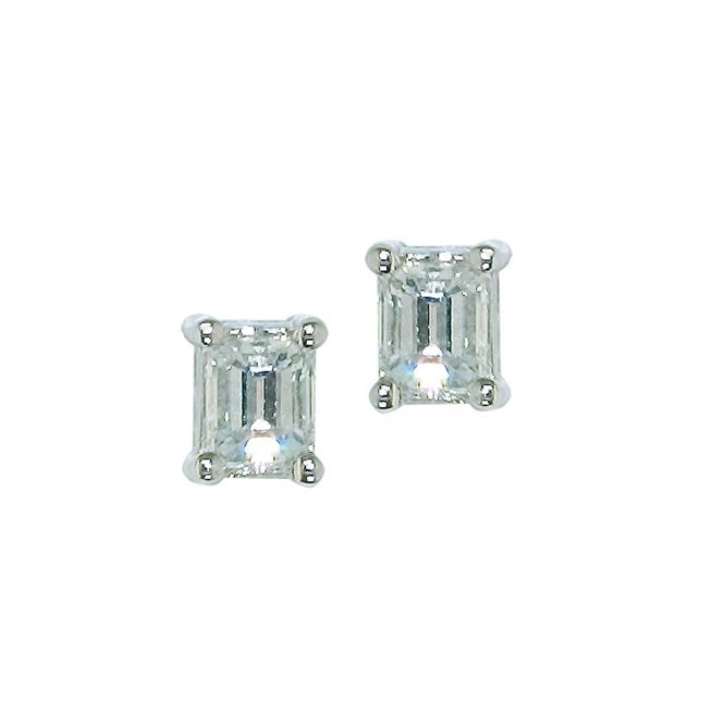 Ladies Shipton and Co Exclusive 18ct White Gold Imperial Diamond Baguette Cut Earrings TJS015DI