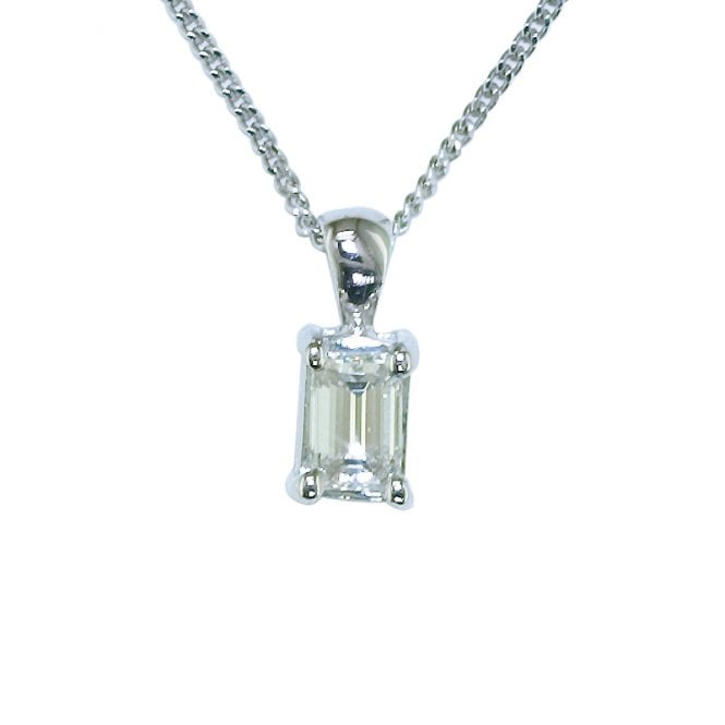 Ladies Shipton and Co Exclusive 18ct White Gold 25pt Octagonal Cut Diamond Necklace TJS016DI