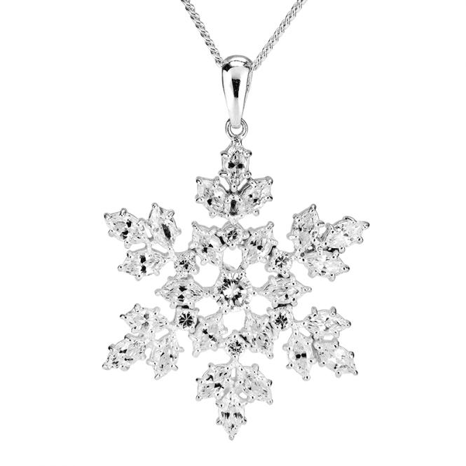 Diamond-bright Snowflake Pendant