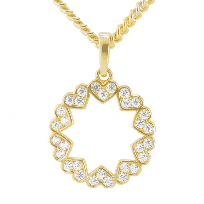 Pendant Melds Hearts Stars and Circles in 9ct Gold