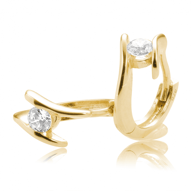 9ct Gold 'Diamond' Earrings for Only £95