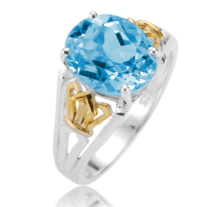 Irresistible Value 11/2cts Blue Topaz Ring