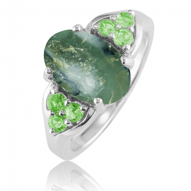 1ct Green Opal Selected & Set by Jasper May