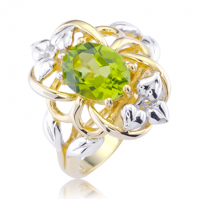 2cts of Peridot in 18ct Gold