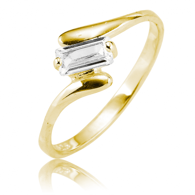 Baguette Sparkle in an 18ct Gold Plated Ring