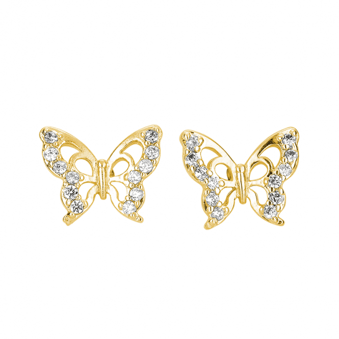 18ct Gold Plated Butterfly Earrings