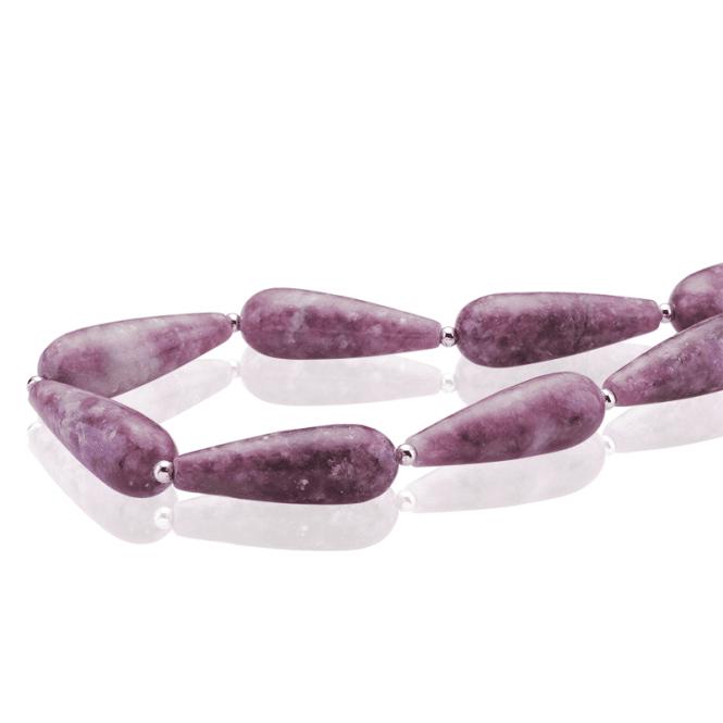 Rosy Lepidolite Beads of Calm