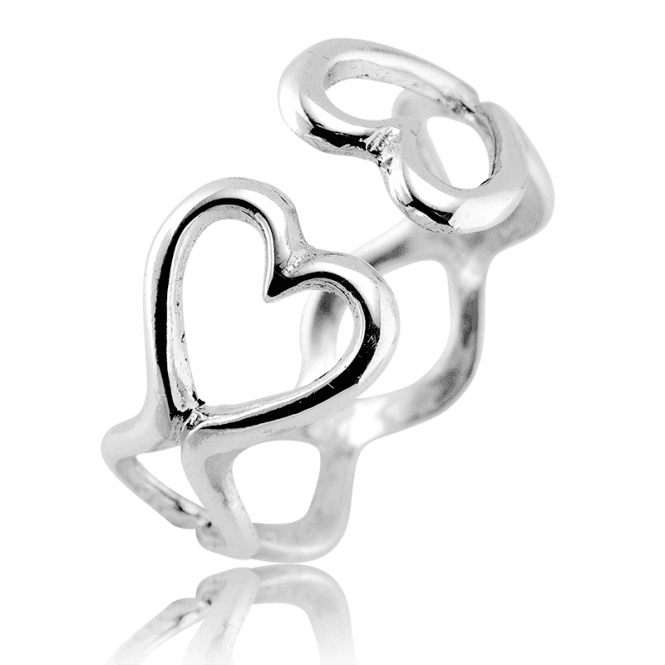 Easy-Fitting Hearts Embrace Ring
