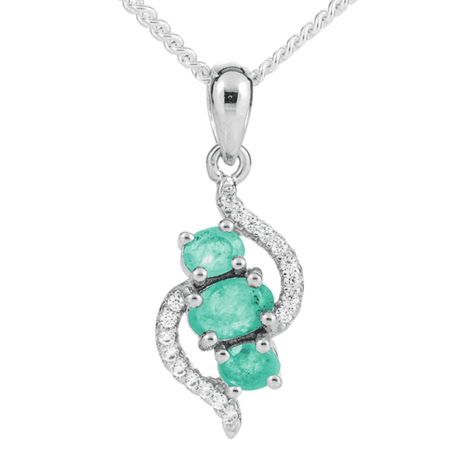 Irresistible Value 0.7ct Emerald Trilogy Pendant