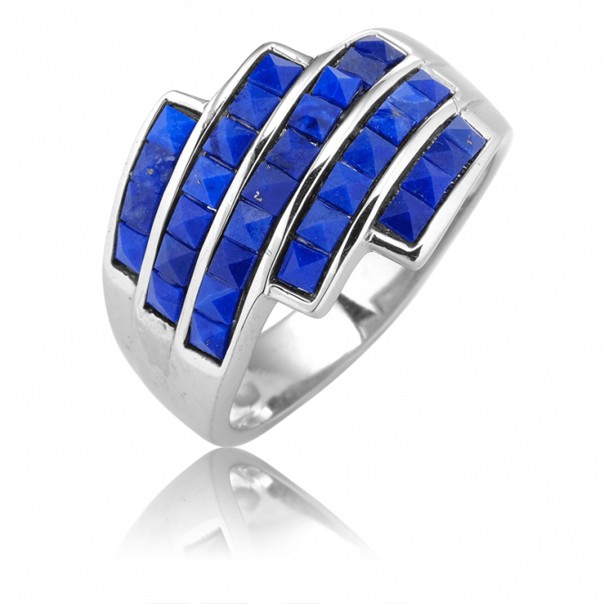 Art Deco Inspiration for a Stepped Lapis Ring