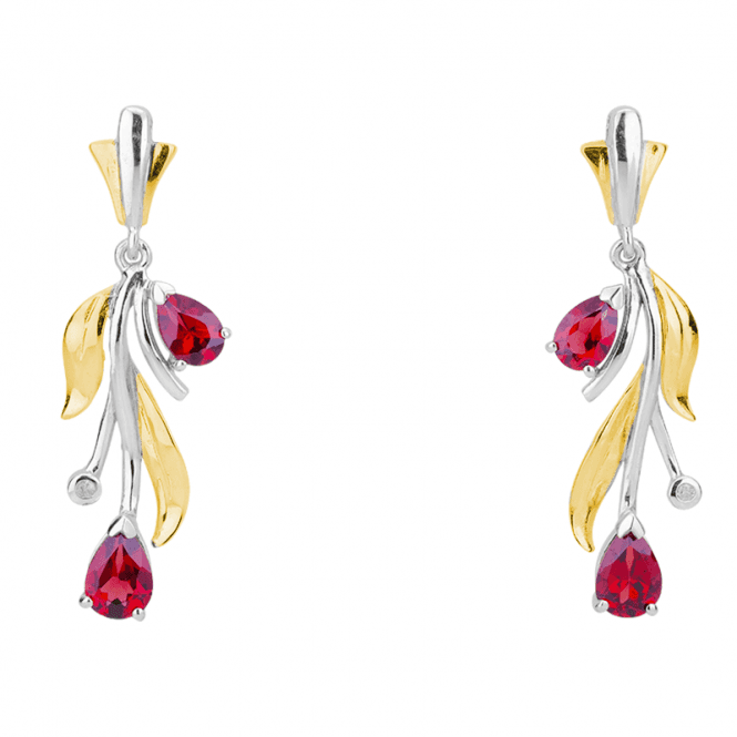 2¾cts of Mozambique Garnet & Diamond Earrings Only £65